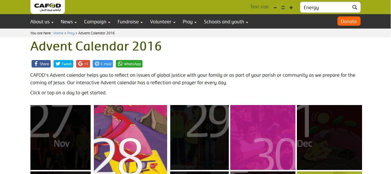 CAFOD Advent Calendar