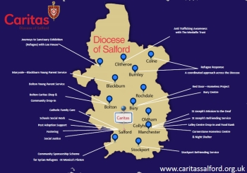 Caritas Services Map
